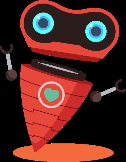 Robot de Healthy Jeart con sombra