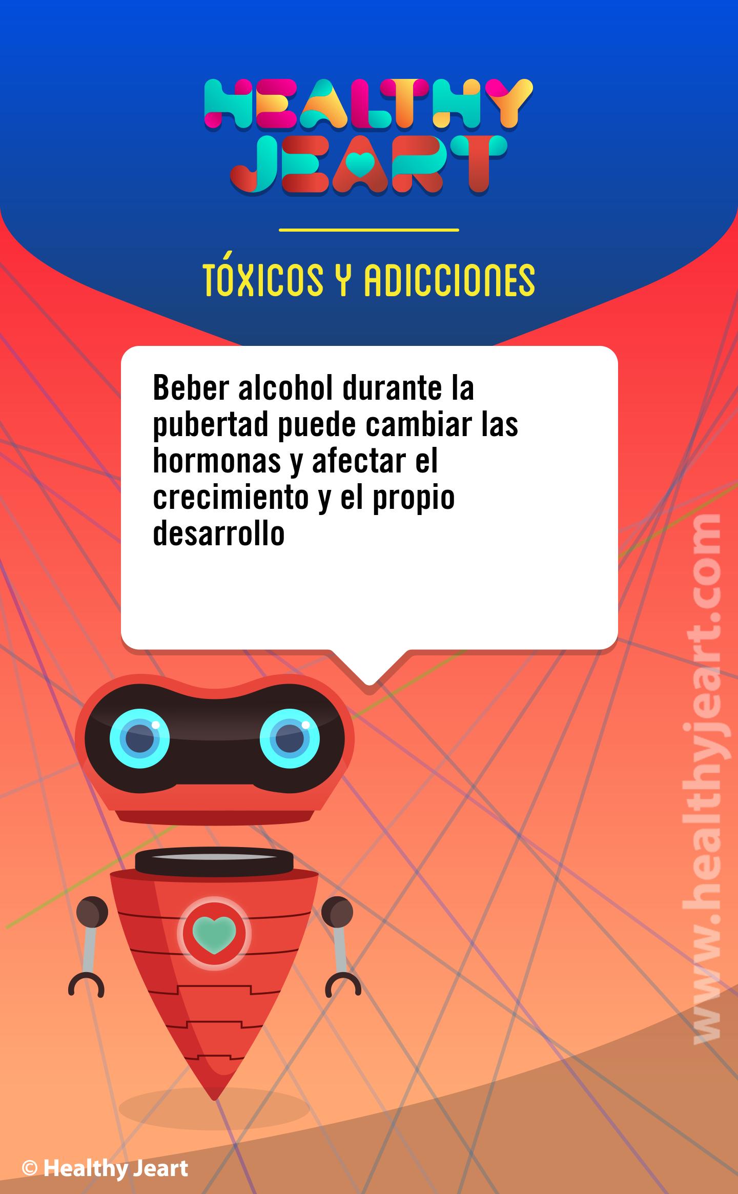 Beber alcohol durante la pubertad puede cambiar las hormonas y afectar el propio crecimiento y el propio desarrollo