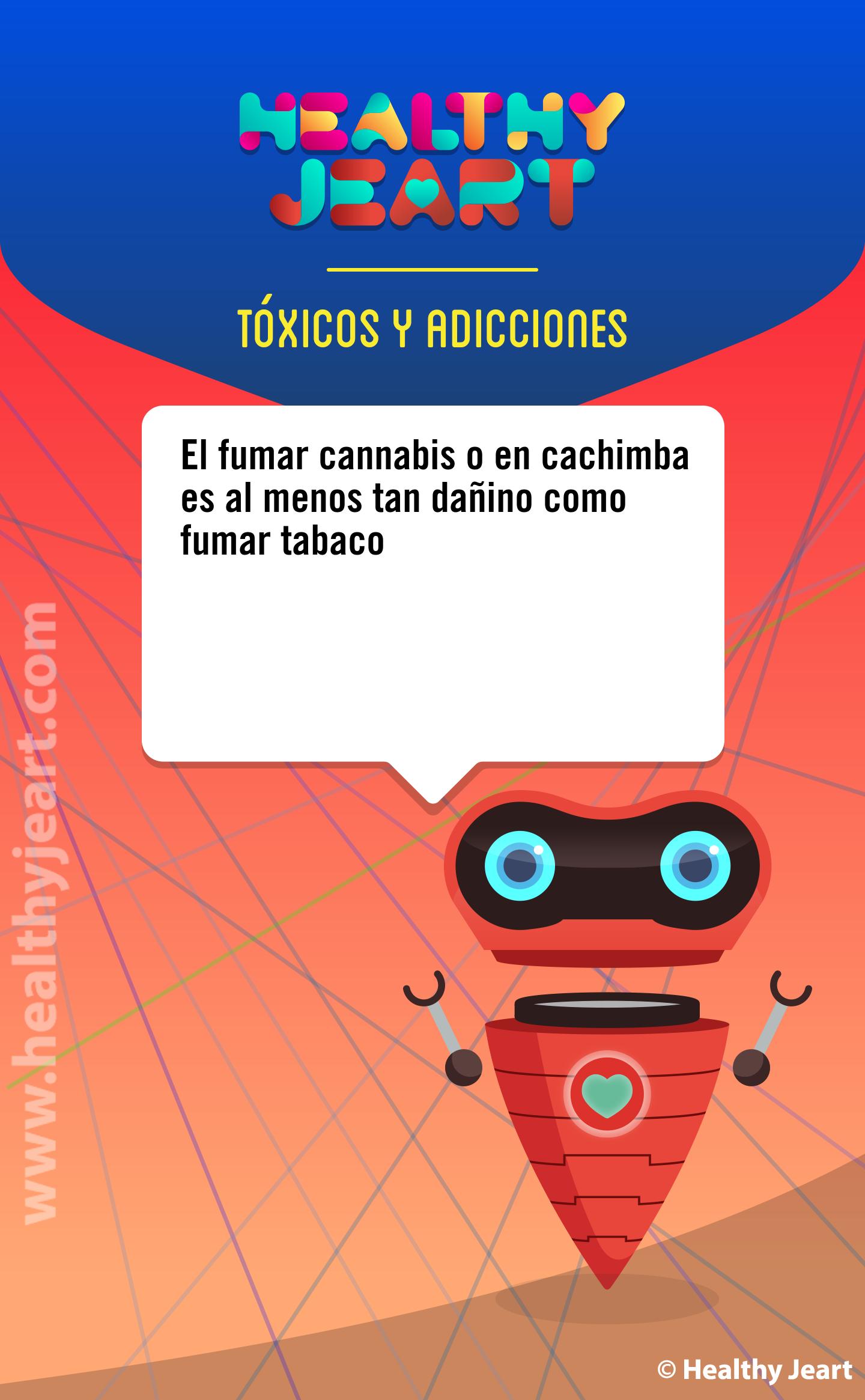 El fumar cannabis o en cachimba es al menos tan dañino como fumar tabaco