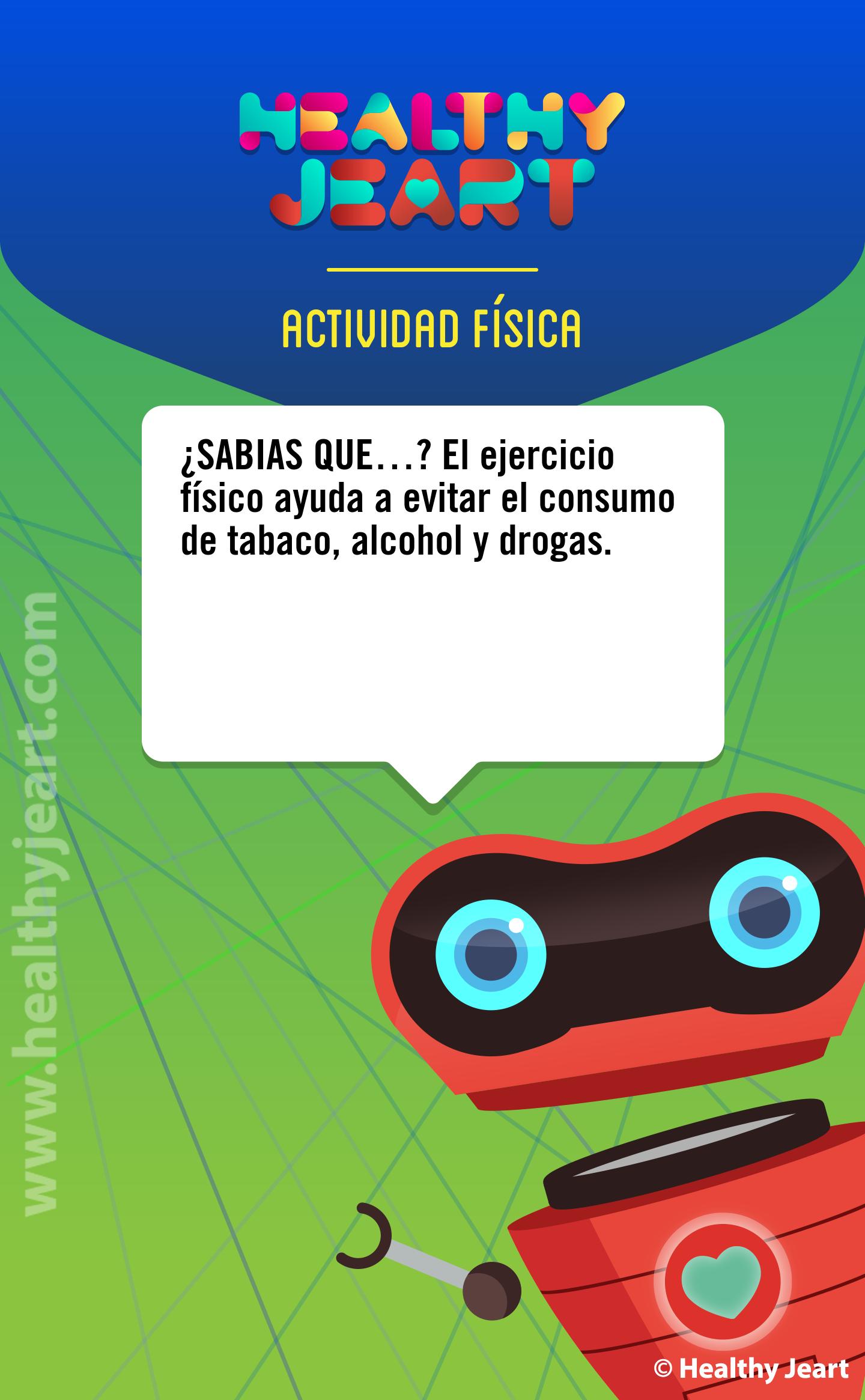 ¿Sabías que...? El ejercicio físico ayuda a evitar el consumo de tabaco, alcohol y drogas