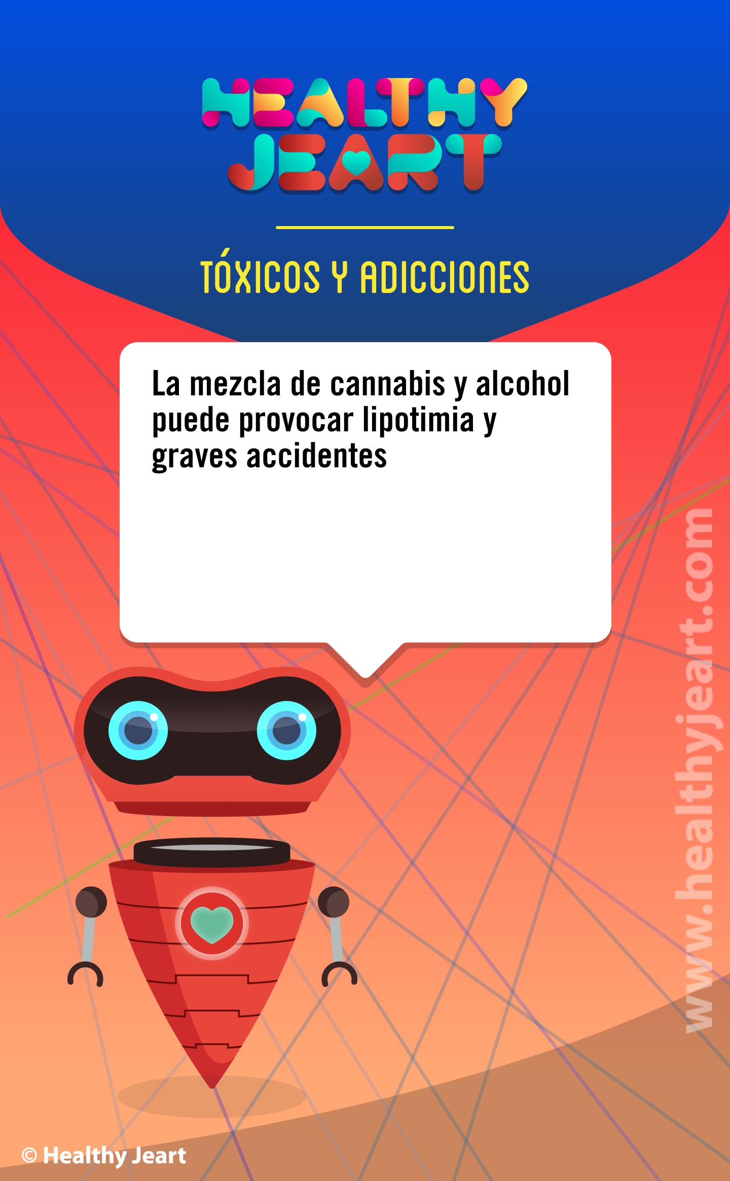 La mezcla de cannabis y alcohol puede provocar lipotimia y graves accidentes