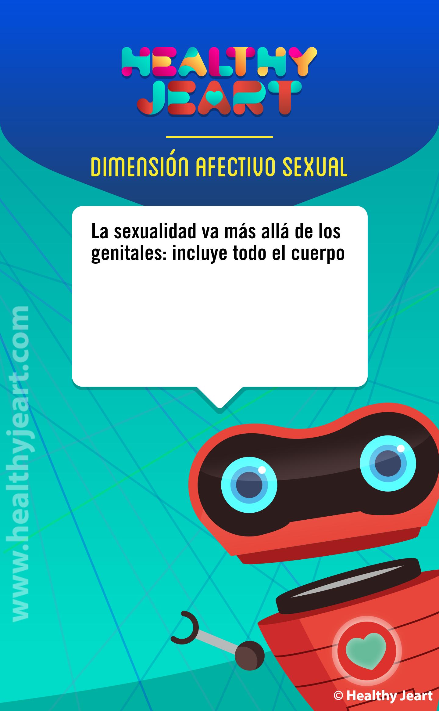 La sexualidad va mas allá de los genitales: incluye todo el cuerpo