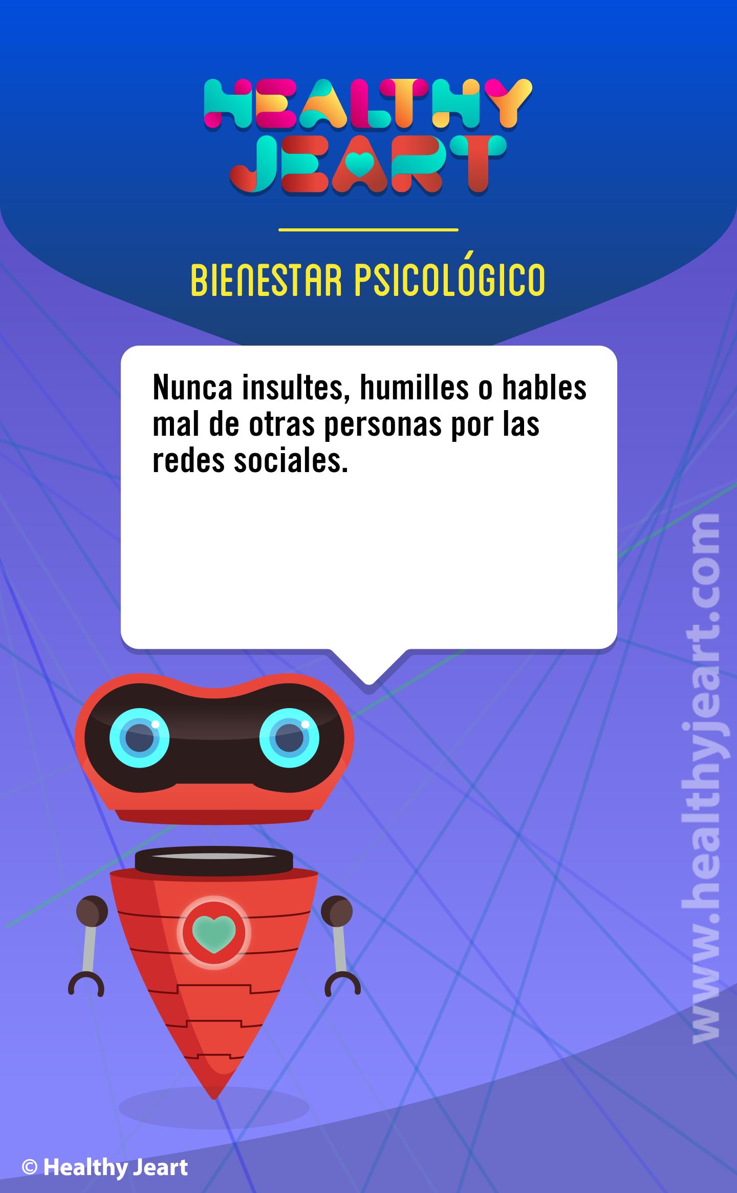 Nunca insultes, humilles o hables mal de otras personas por las redes sociales.